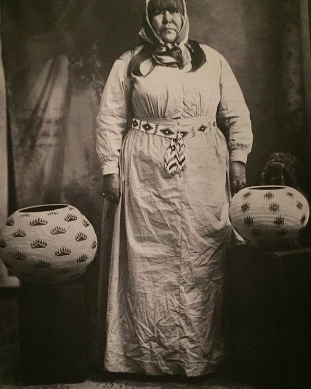 Datsolalee (Louisa Keyser) shown with her baskets in the ca1900 photo @metmuseum #dikercollection