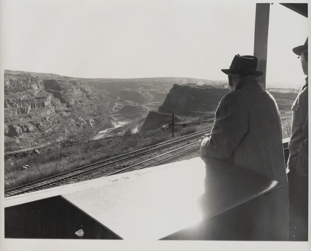 Iron ore open pit mine, Minnesota. Credit U.S. President's Railroad Commission Photographs, Cornell University