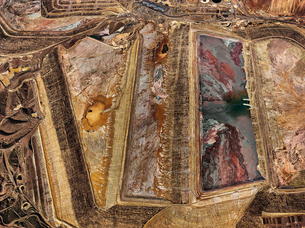 Aerial view of Morenci Mine, Morenci, Arizona. Credit Edward Burtynsky/Howard Greenberg Gallery.