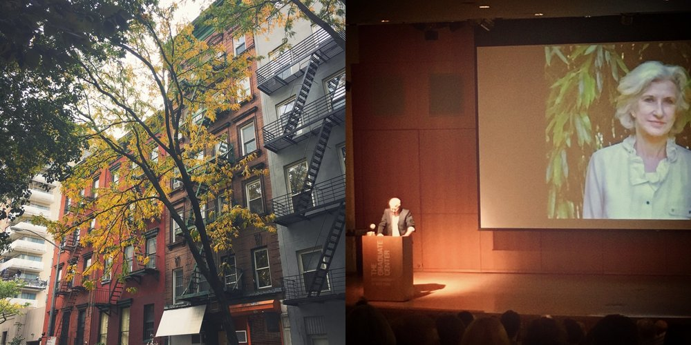 autumn in NY // Michael Wiegers speaking @ C.D. Wright Tribute, CUNY Graduate Center, 10.19.16