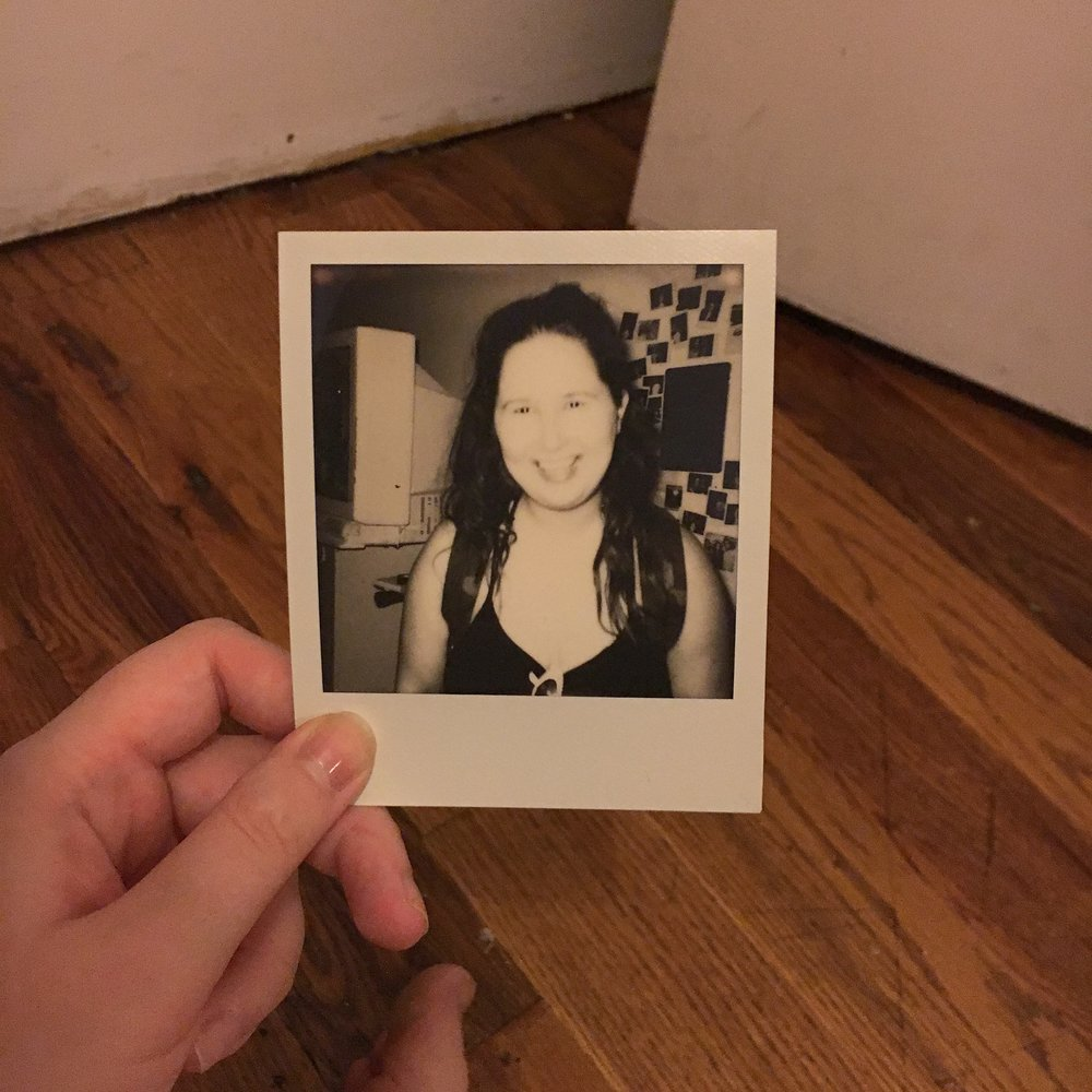 Polaroid portrait at WordHack, July 2017
