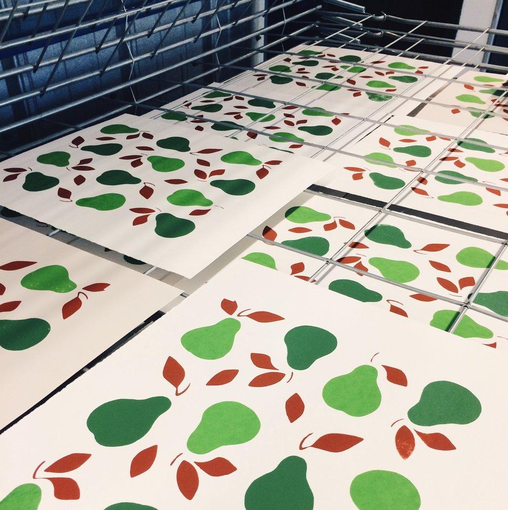 pears partial screen print