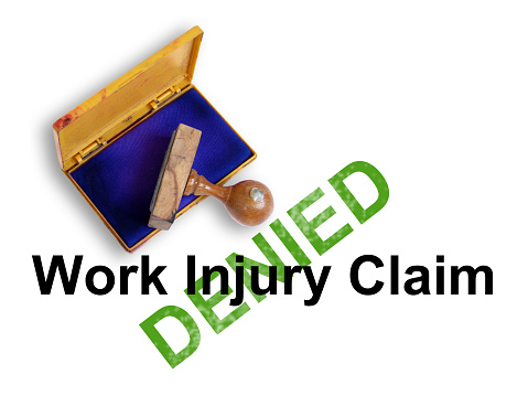 Denied work injury claim San Diego.