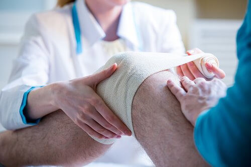 Knee, Anklew and foot injury workers' compensation claim.