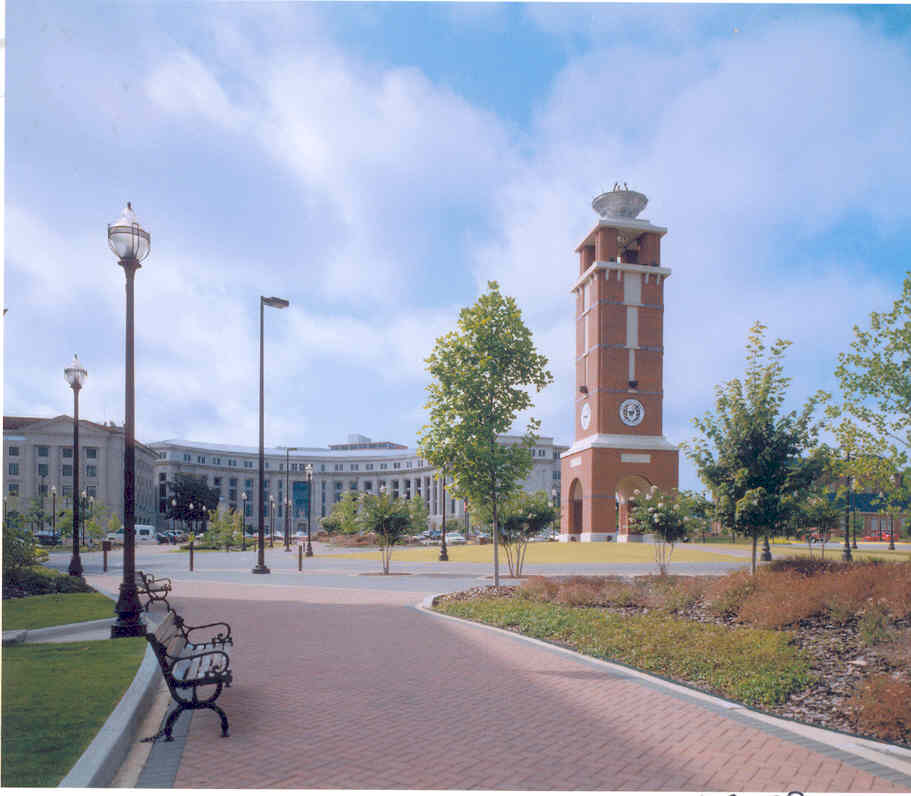 CURRY COMMONS PLAZA & CLOCK TOWER Troy University Mongtomery Campus Montgomery, AL