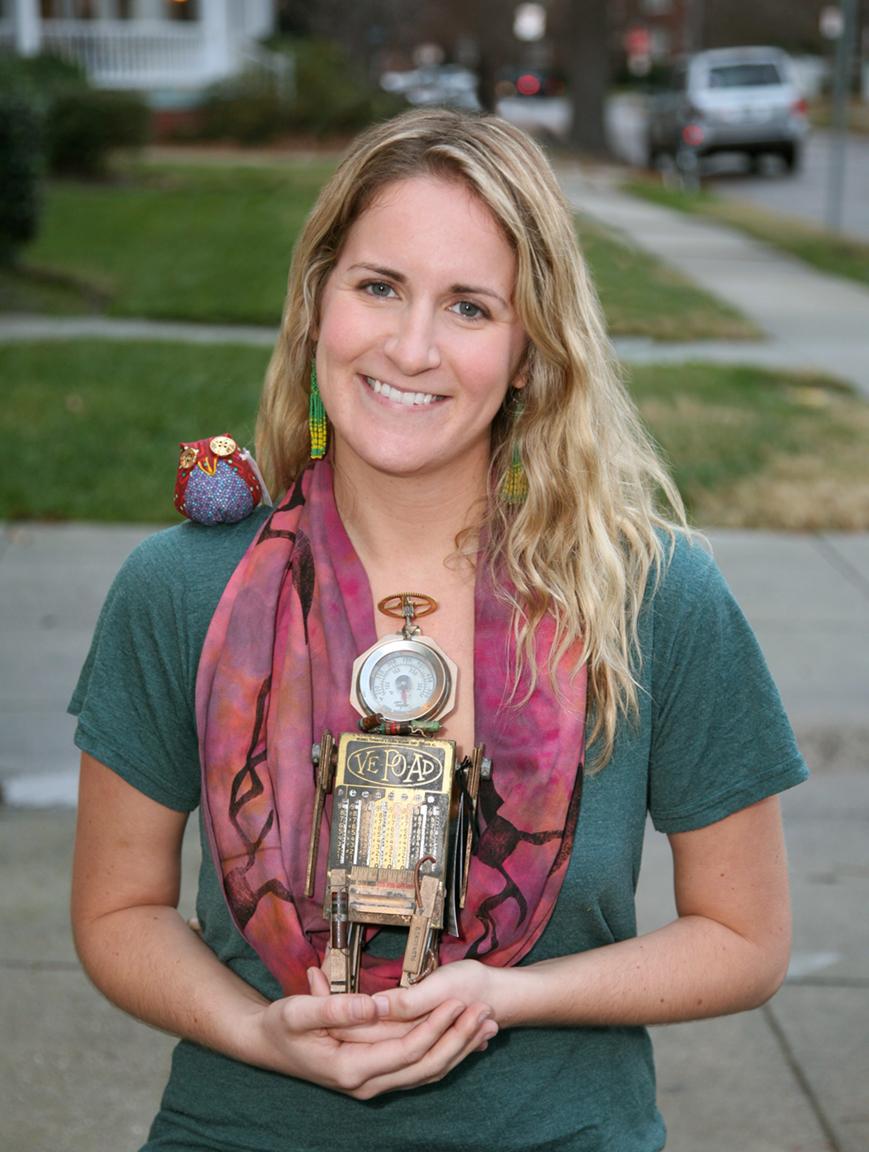 Normal is Boring owl, Leslie Brier robot.