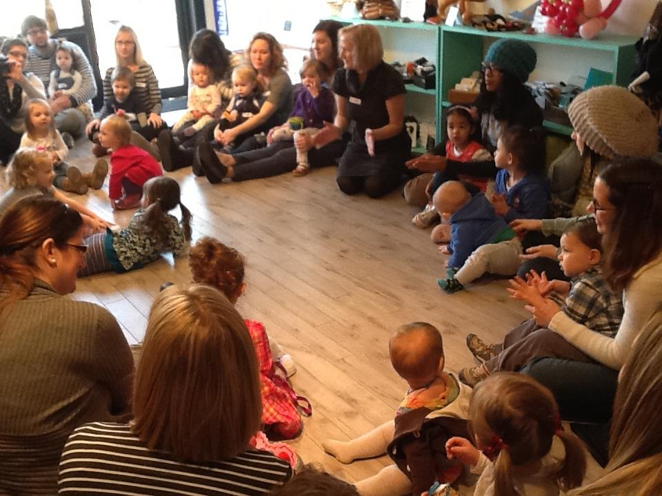 The carpet and the sofa went away, but the great events continue - including singalong time!