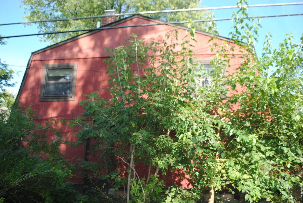 Rear of the barn -er...house