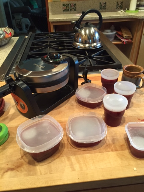 Making Pinot Noir jelly.