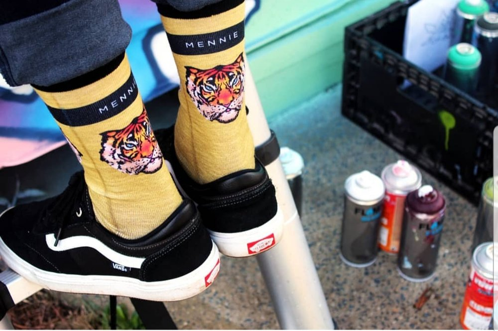Mennie Brand Tiger Socks