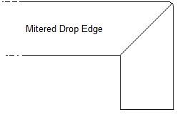 Mitered Drop Edge
