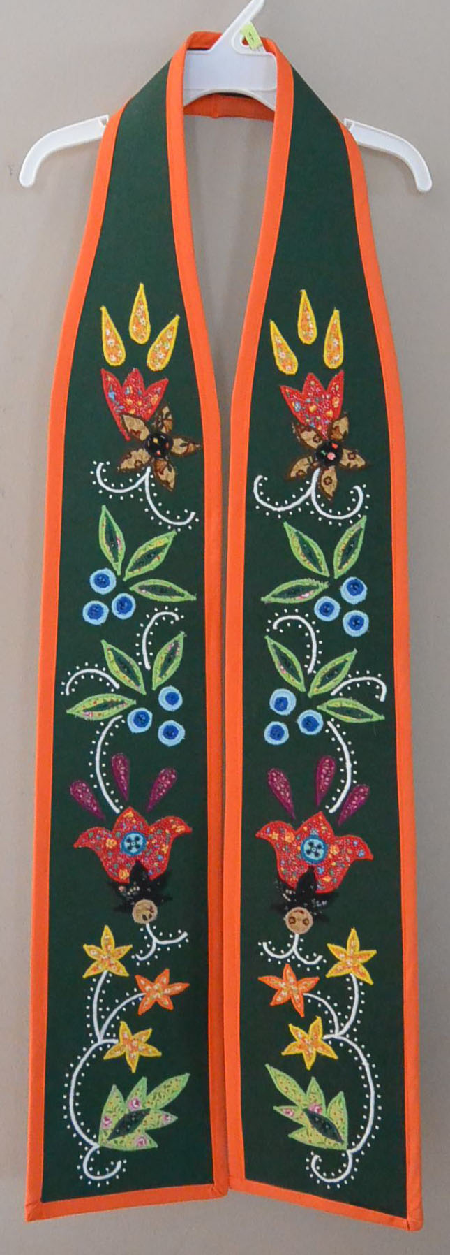 Traditional Anishinaabe / Ojibwe Woodland Floral Graduation Honor Sash, 2014