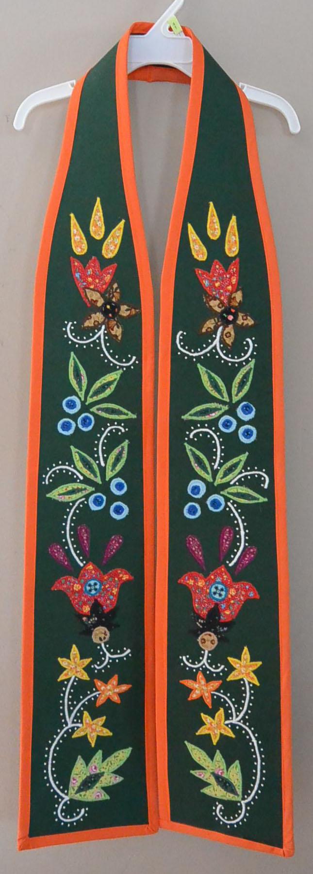 Anishinaabe Symmetrical Floral Graduation Sash