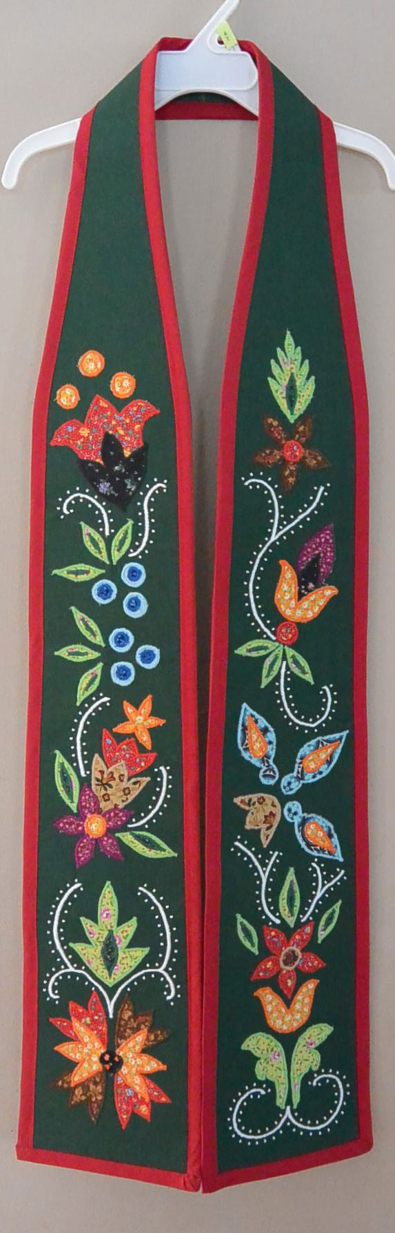Traditional Anishinaabe / Ojibwe Woodland Floral Graduation Honor Sashes – 2014
