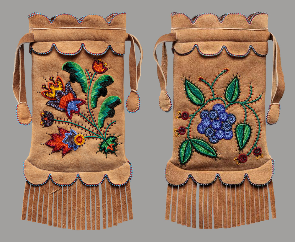 Traditional Anishinaabe / Ojibwe Woodland Handbag (front and back), 2011