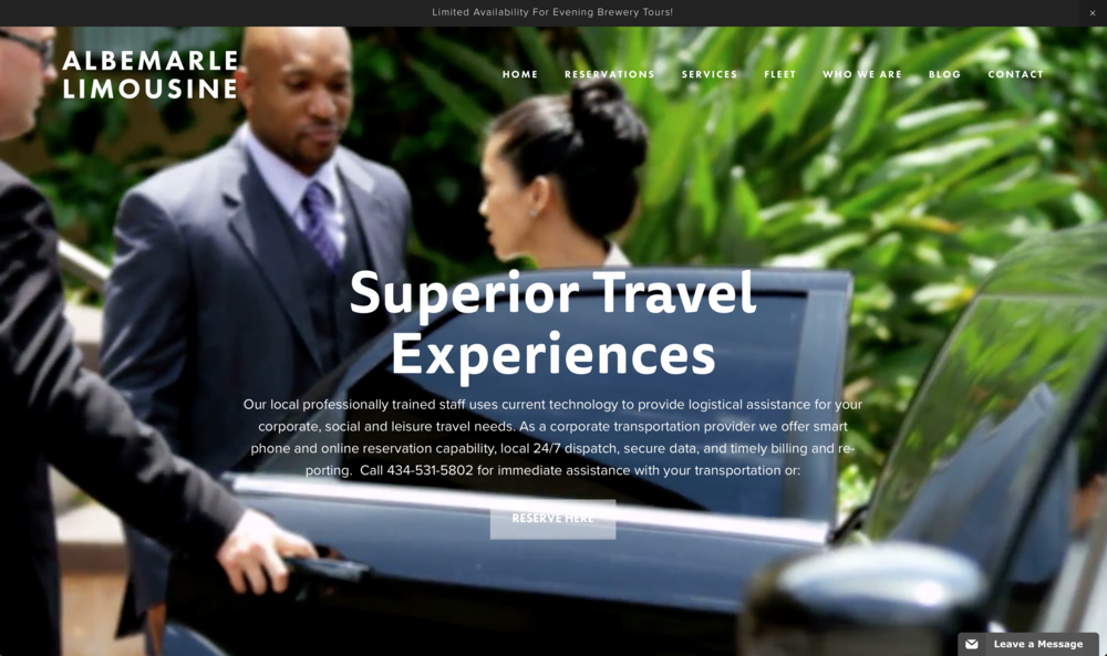 Website Design - Albemarle Limousine