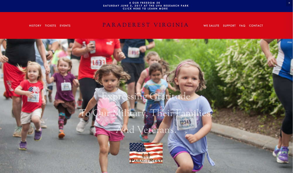 Website Design - ParadeRest Virginia