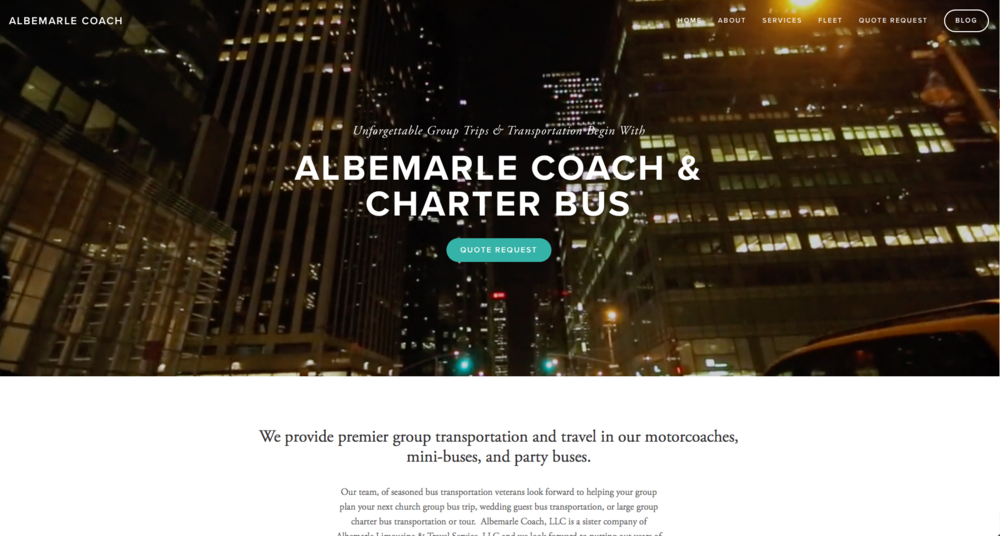 Website Design - Albemarle Coaches