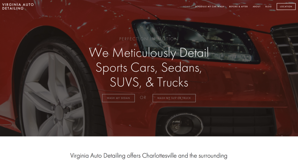Website Design - Virginia Auto Detailing