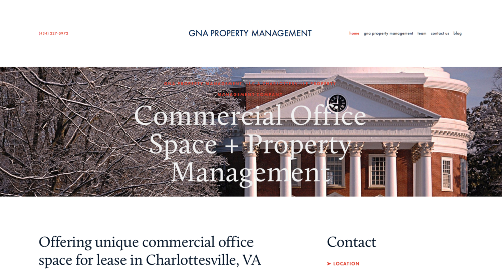 Website Design - GNA Property Management