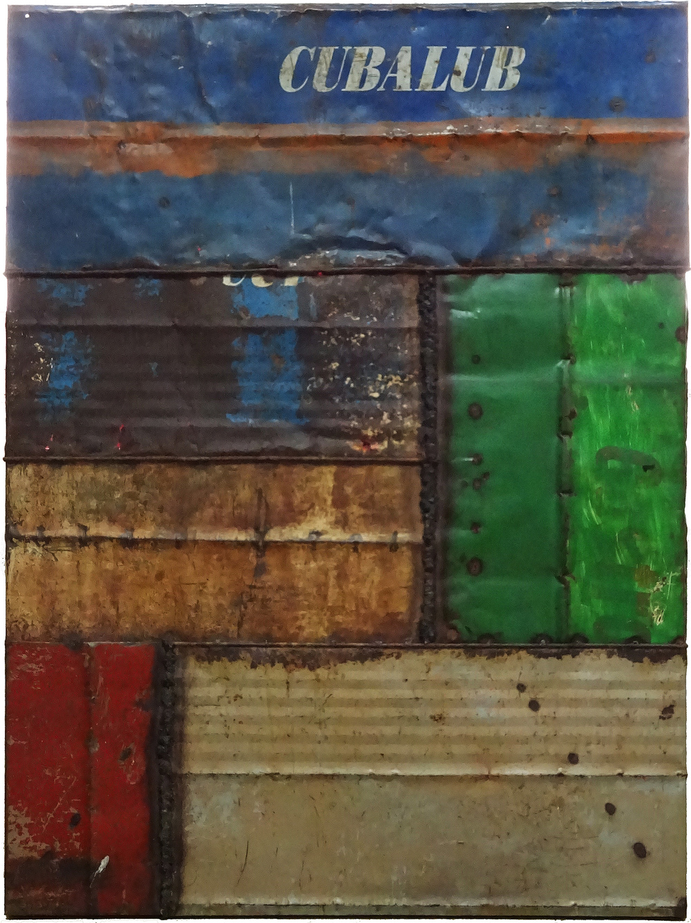 Roberto Diago,  Untitled  (from the series  Variaciones de Oggun ), 2010 Mixed media, 78-3/4 x 59-1/16 inches