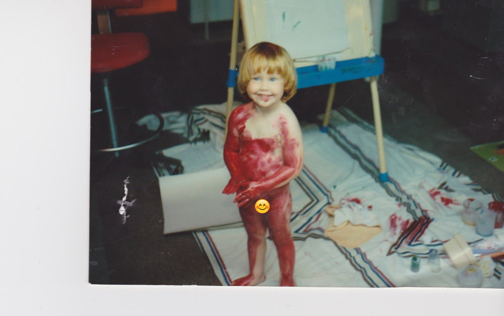 Sarah was either destined to become an artist or lead a life of crime; luckily for all involved, she chose the former. Photo circa 1990/1991