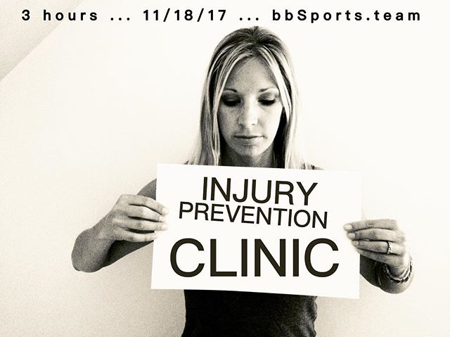 ATTENTION: athletes, coaches, trainers ... Join us November 18th for a 3-hour, hands-on Injury Prevention Clinic.  As part of the registration package, you will receive the latest, portable equipment designed to improve posture, reduce pain and prevent future injuries (TYE4, HeadFloater® MINIS®) ... CLINIC TOPICS:: 🔹proper warmups 🔹rapid flexibility gains 🔹core conditioning 🔹joint stabilizer exercises 🔹rotator cuff exercises 🔹balance training 🔹improving posture 🔹recovery ... LOCATION:: St Thomas Rutherford Hospital WELLNESS CENTER Murfreesboro, TN ... November 18 8:00-11:30 am ... Register & more info bbsports.team (link in profile) @bbsportsconsulting @trainerv @kelseyfeltman @danielle_leigh7