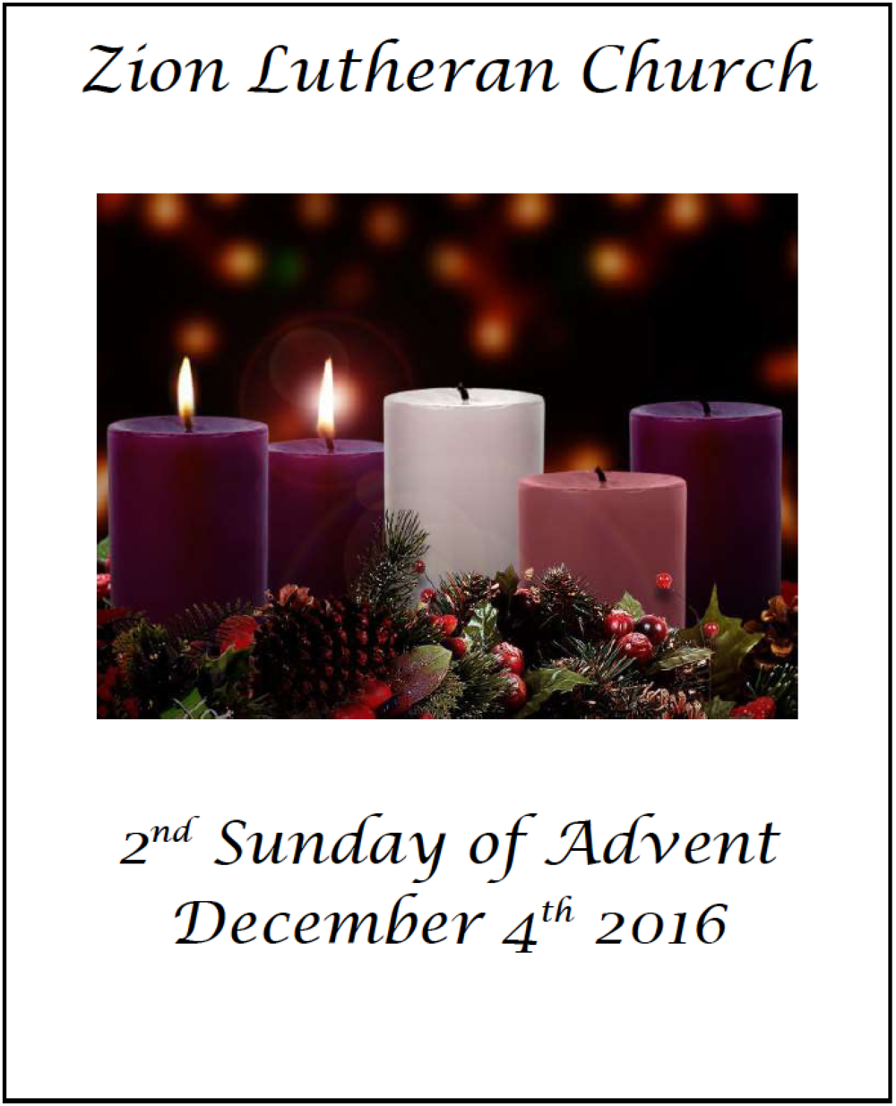 Vicars Message From The Sunday Bulletin Zion Lutheran Church