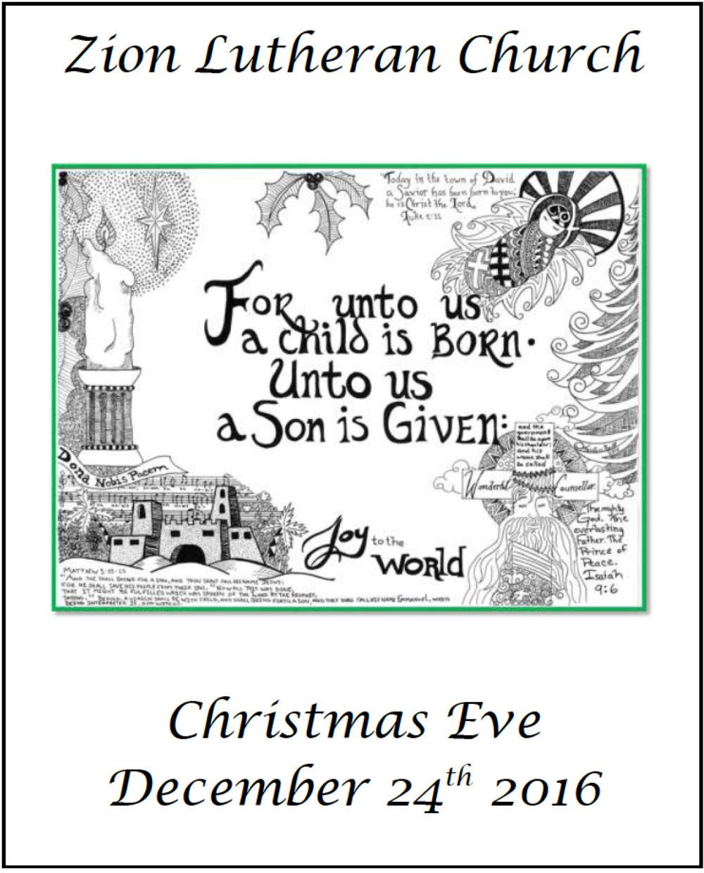 Vicar\'s Message for Christmas Eve — Zion Lutheran Church