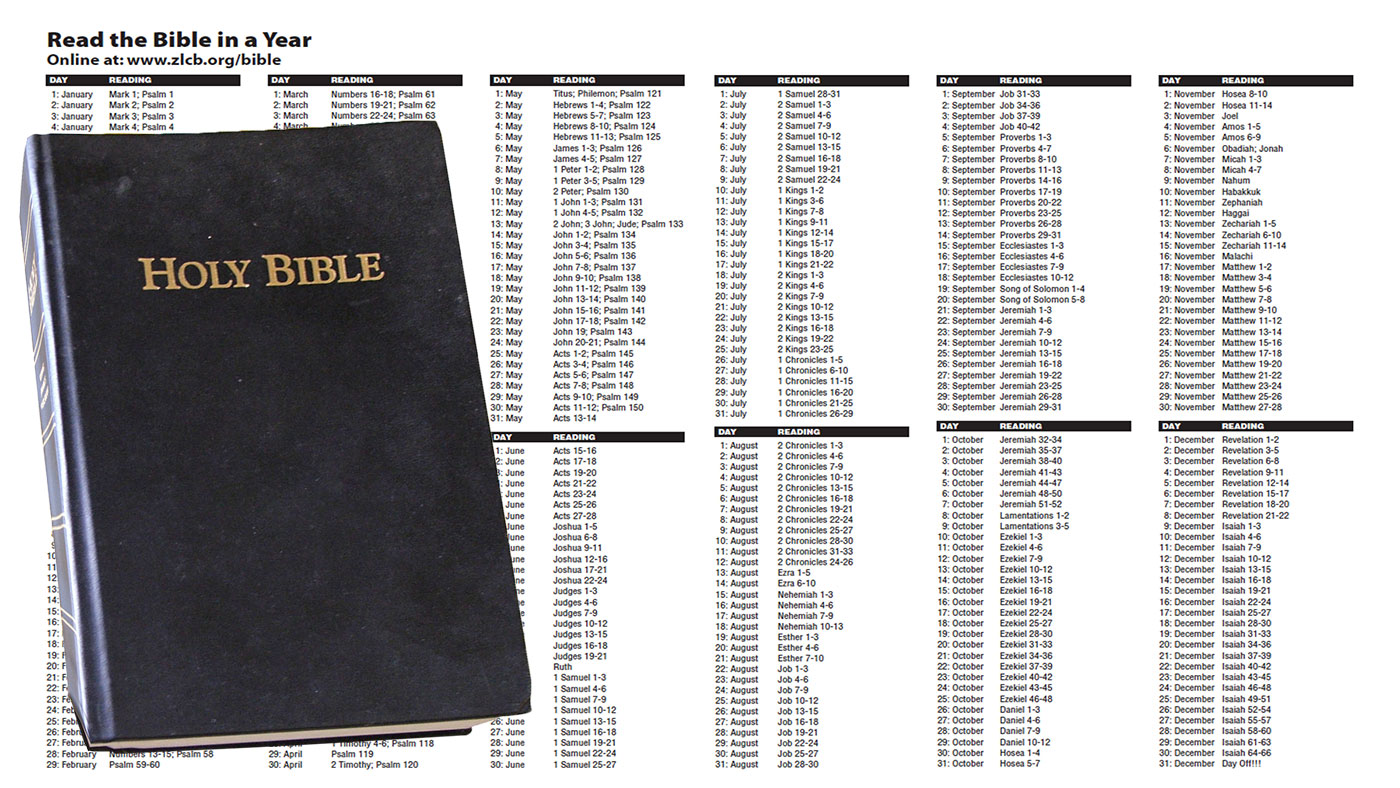 Bible in a Year — Zion Lutheran Church