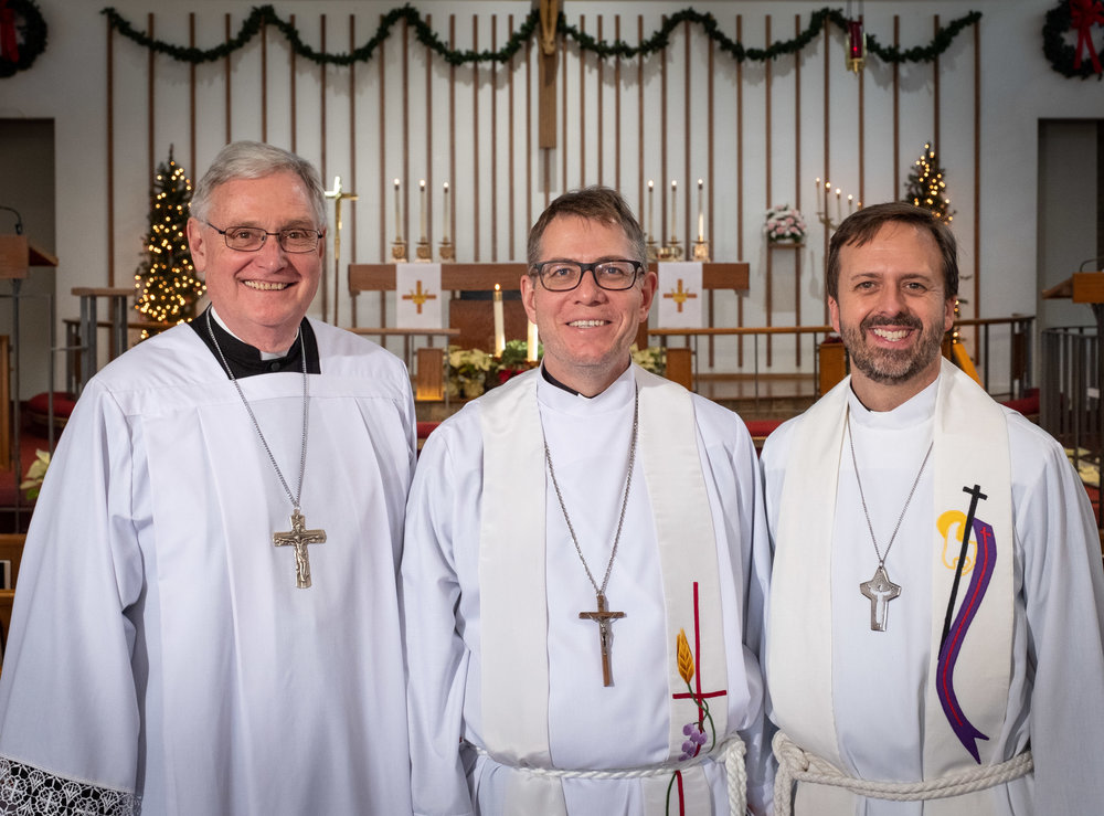 (Left to right) Rev. Dr. Timothy Quill; Rev. Aleksey Streltsov; Rev. Dr. Edward Grimenstein