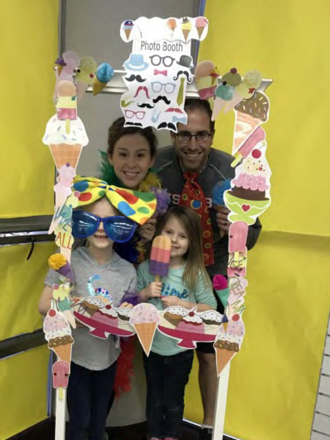The Killinger family having fun at our photo booth at the Ice Cream Social. How cute!