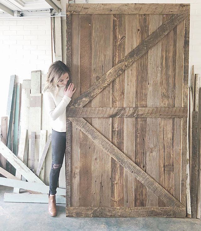Don't let the door hit you on the way out! 👋🏻 . Wood from barns in OH + PA