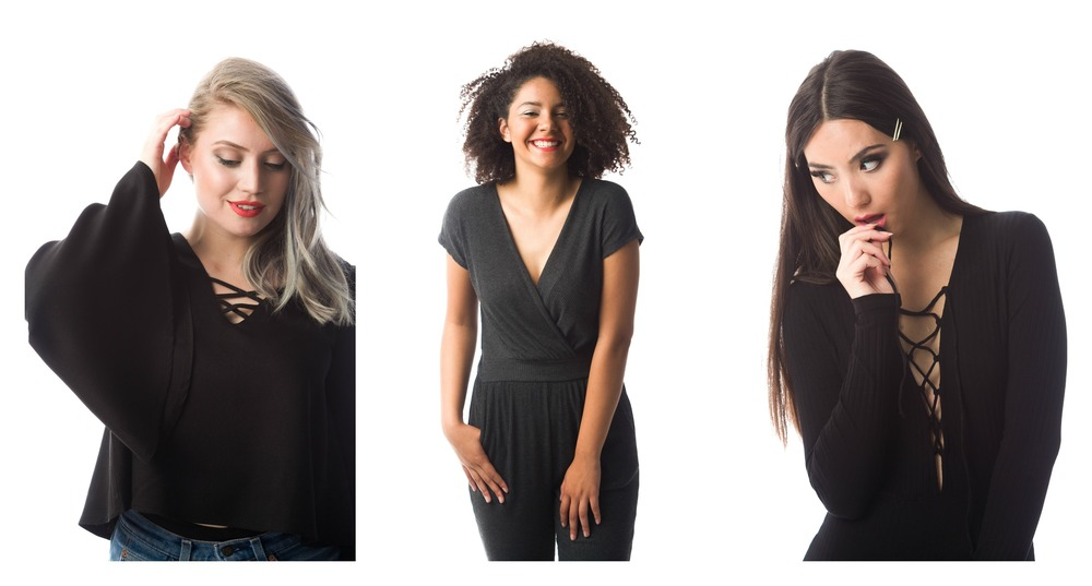 Rebecca Top; Kitten Jumpsuit;Deep Dark V Lace-Up Bodysuit