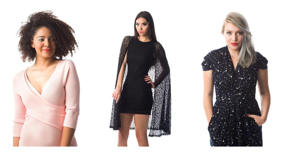 Tulip Sweater Dress; Lydia Lace Cape Dress; When You Wish Dress