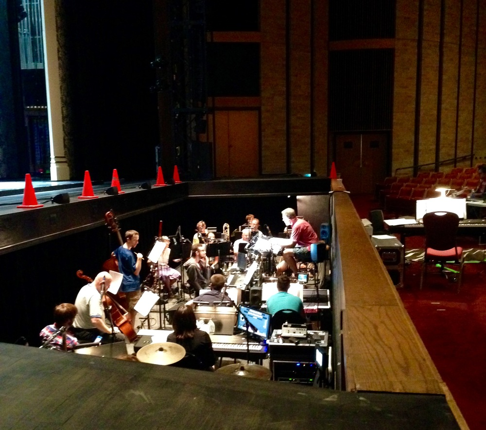 Rehearsing with the orchestra for the first time!