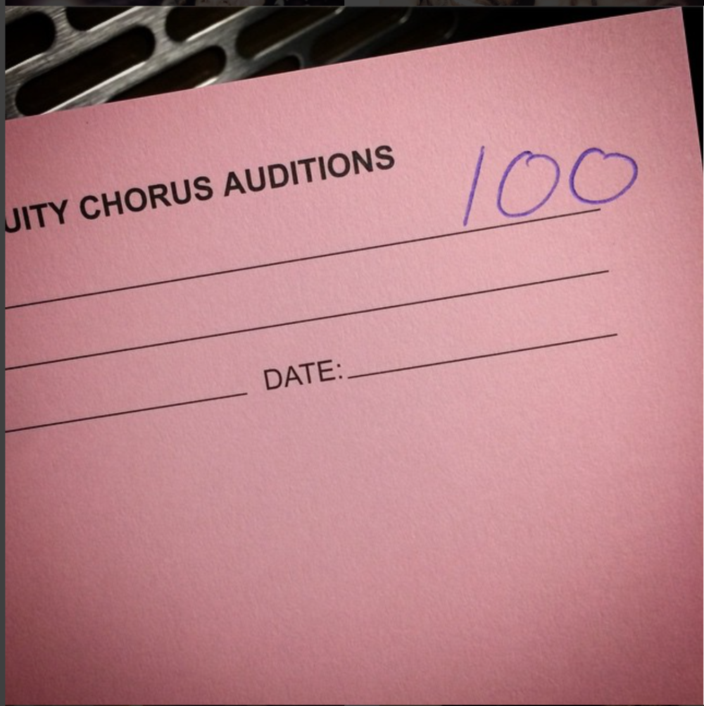 Example of an audition form used for ECC auditions