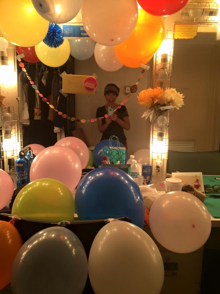 Birthday Club fun in the women's dressing room!