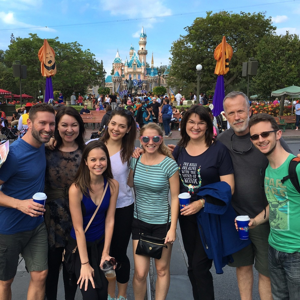 Disneyland with the cast