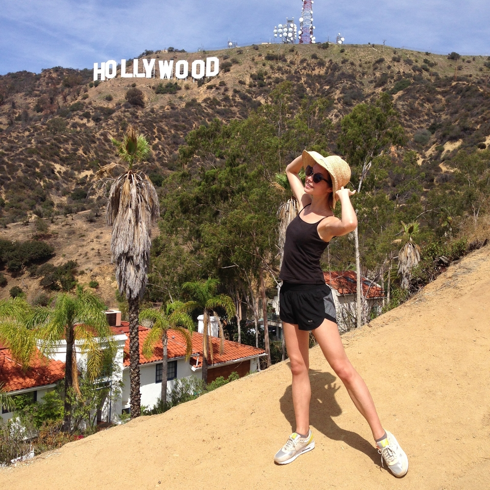 Hiking to the Hollywood sign - I miss this weather!