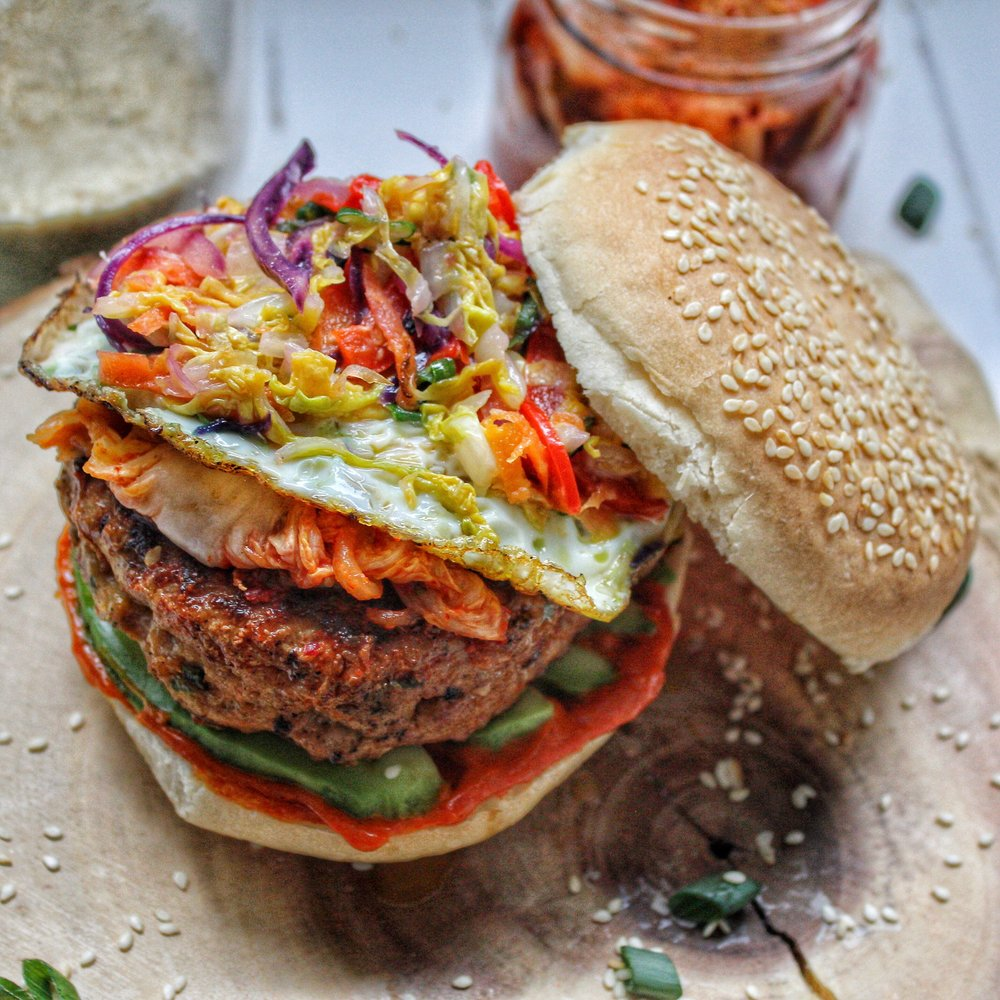 Korean Pork Burger -