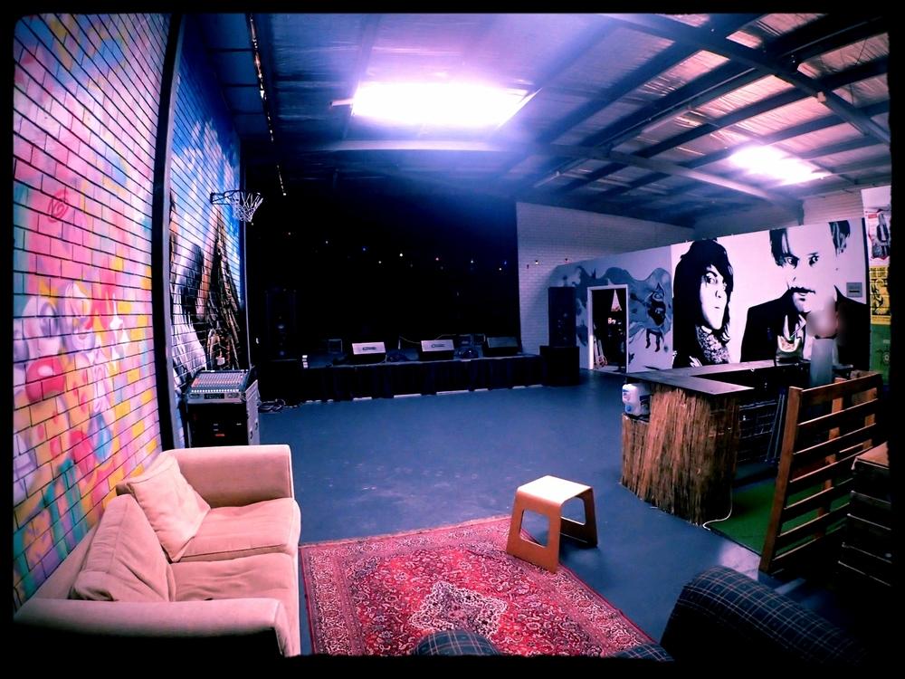 The Garage stage