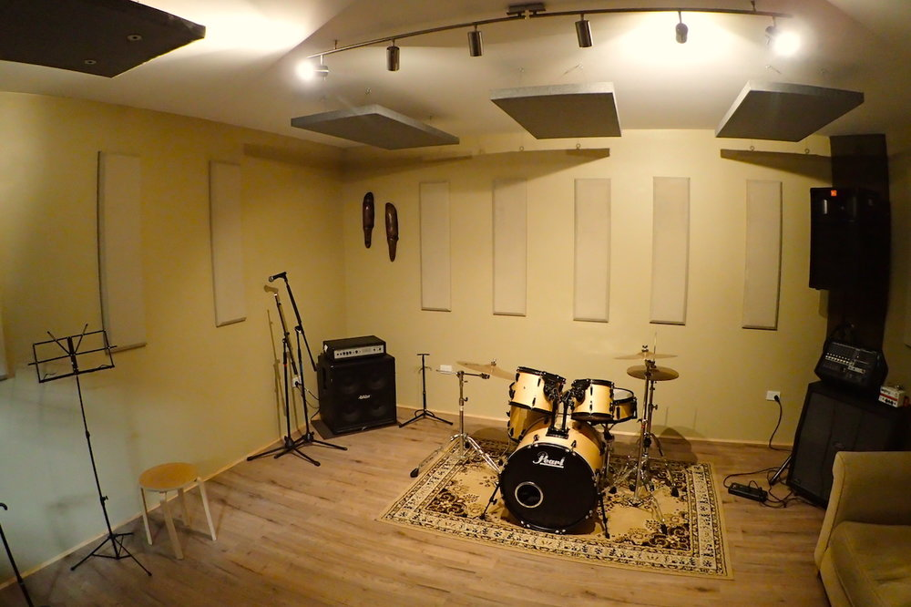 Our rehearsal rooms include backline