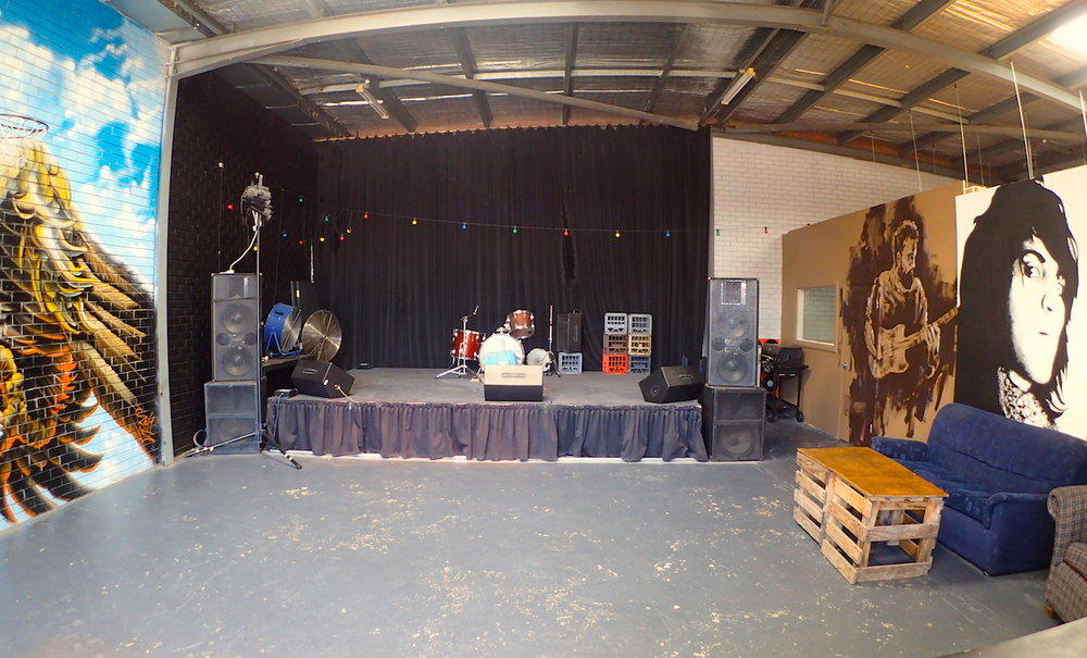 The Garage has a capacity of 180 for live performances