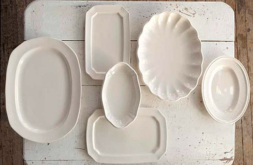 Ironstone platters, perfect for entertaining or everyday use