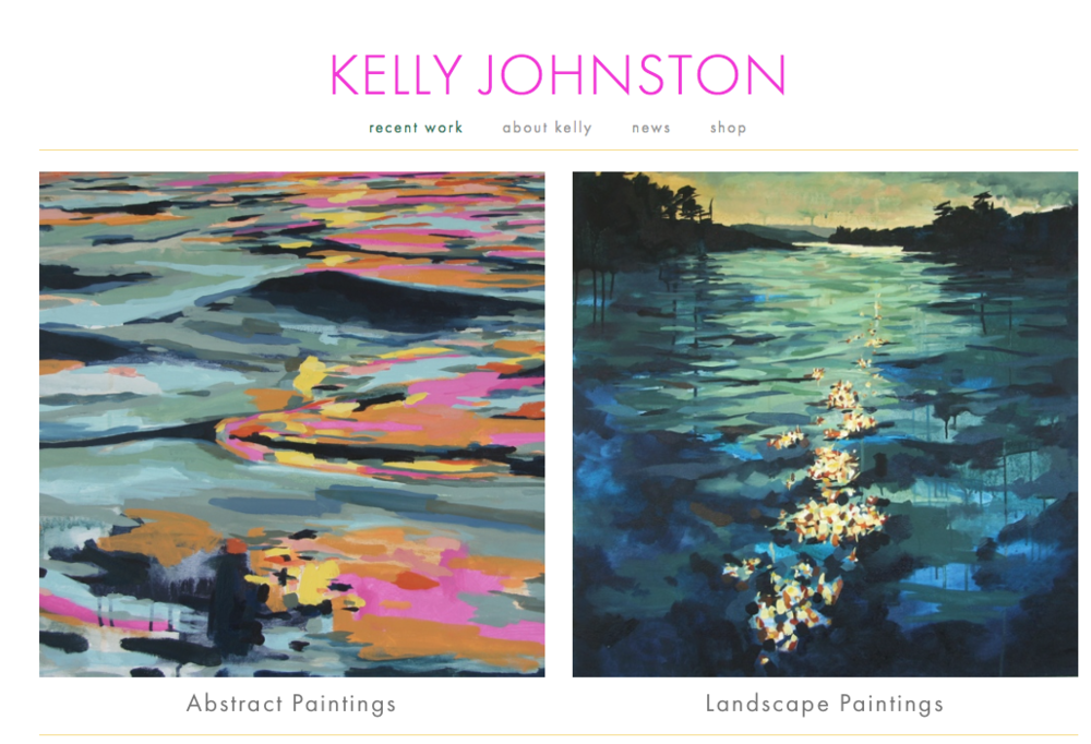 Local Bainbridge Island artist, Kelly Johnston.