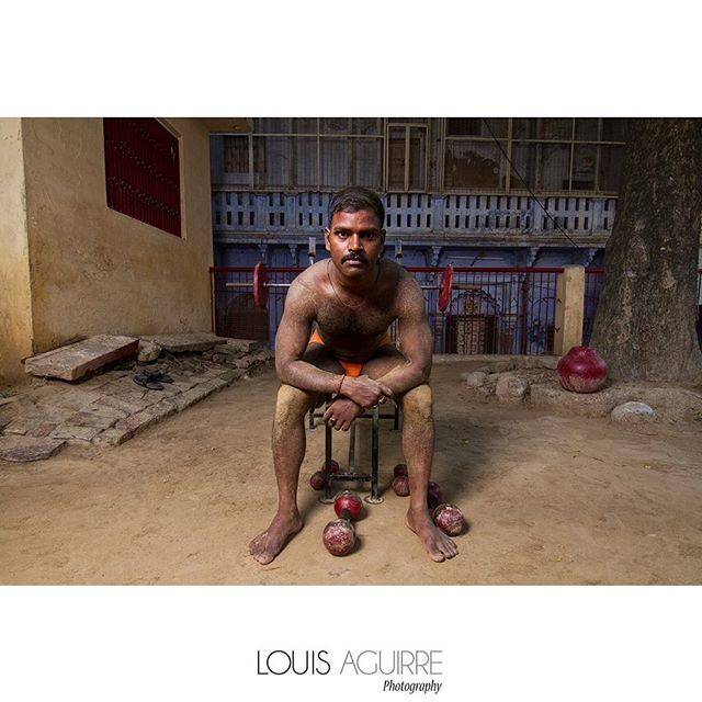Portrait of a Kushti wrestler.  Varanasi, India 2014  #benares #varanasi #uttarpradesh #india #portraitlighting #lighting #weights #wrestler #wrestling #kushti #kusti #pehlwani #travel #travelphotography #canonusa #profoto #indiagallery #natgeoindia #natgeo #natgeotravel #thephotosociety #natgeoindia #yourshot #myfeatureshoot #streetphotography #everydayindia #environmentalportrait