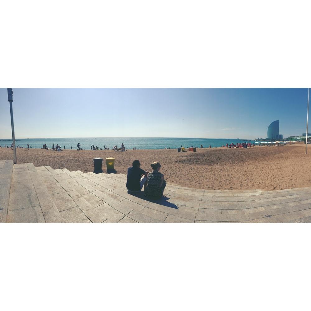 地中海のビーチ