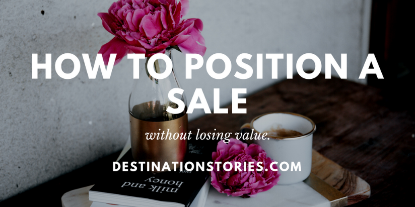 how to position a sale