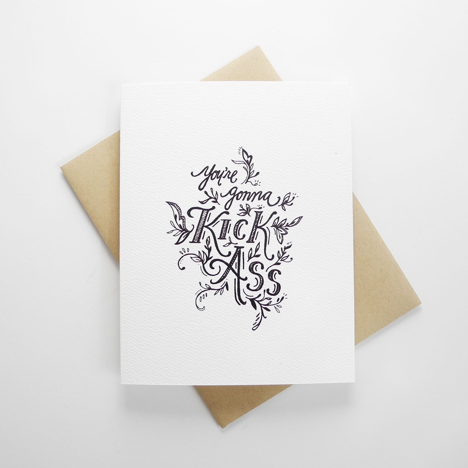 Youre gonna kick ass hand illustrated greeting card doodle youre gonna kick ass hand illustrated greeting card m4hsunfo